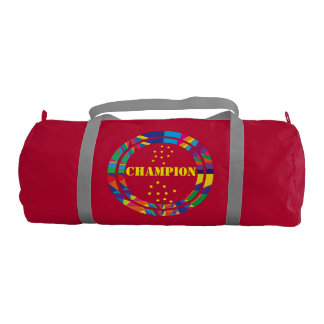BAG- duffel gym bag-GO Champion graphic design