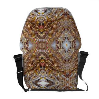Bag- Earth Tones Bead Print Messenger Bag