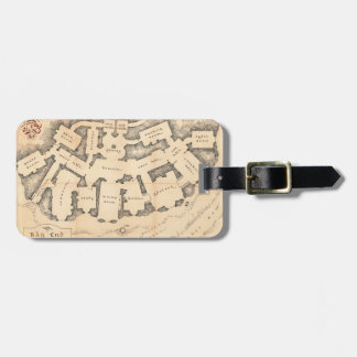 Bag End Vintage Map Luggage Tag