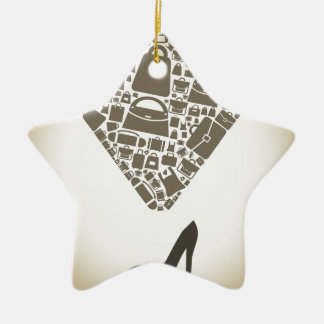 Bag from shoe ceramic star ornament