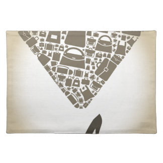 Bag from shoe placemat