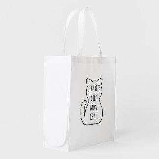 Bag in fabric: I live in my cat