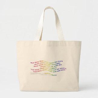 Bag: Isaiah 40:31 Large Tote Bag