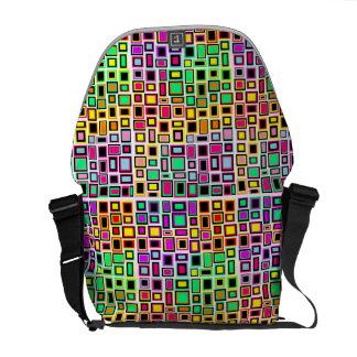 Bag Messenger Merry Squares multicoloured Messenger Bags