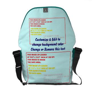 "Bag Messenger Rickshaw Medium Zero Dim 11"" H x 18"" Commuter Bag"