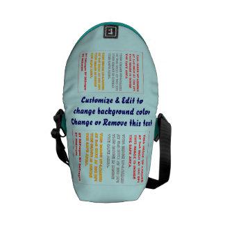 """Bag Messenger Rickshaw Mini Zero Dim: 8"""" H x 9"""" W Messenger Bags"""