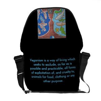 Bag Messenger vegan fish free Messenger Bag