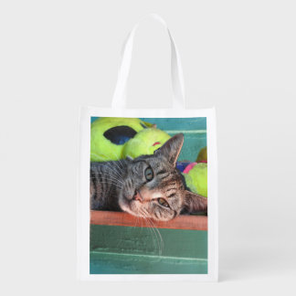 Bag O' Cats Reusable Tote Bag Reusable Grocery Bag