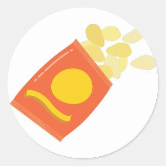 Bag of Chips Round Sticker