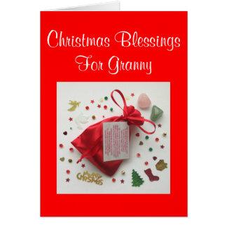 Bag of Christmas Blessings for Granny Xmas Card