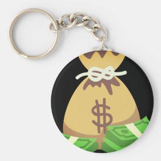 Bag Of Money Basic Round Button Keychain