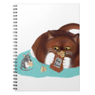 Bag of Popcorn for Mouse and Kitten Note Books