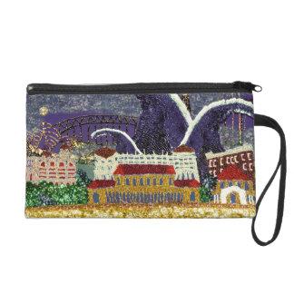 Bag | Purple Haze Sydney | Sequin Art Print Wristlet