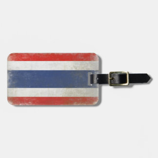 Bag Tag with Distressed Thailand Flag