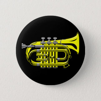 Bag trumpet small trumpet 2 inch round button