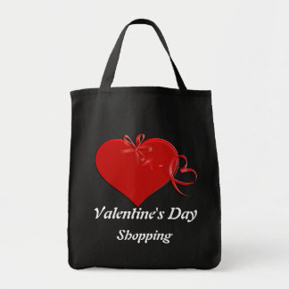 BAG-Valentine's Day Shopping Grocery Tote Bag