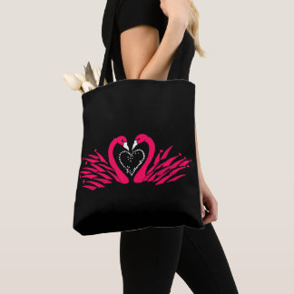 Bag with beautiful swans in love design