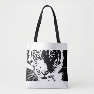 Bag with black and white print Tiger