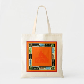 Bag with orange and red border