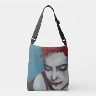 Bag with portrait of a woman