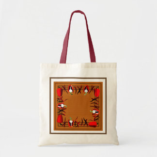 Bag with red peppers  and gray  border#2