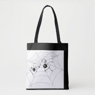 Bag with spiders for Halloween