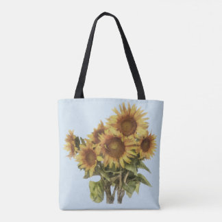 Bag with sunflowers
