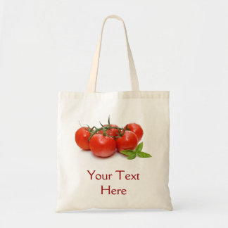 Bag with tomatoes and basil