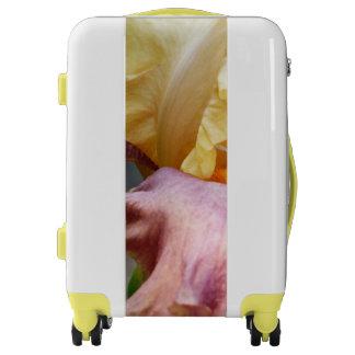 Bagage pourpre jaune d'iris valises