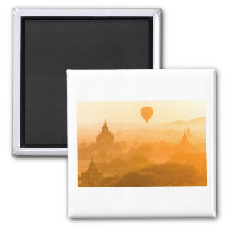 Bagan Myanmar Balloon Travel Magnet