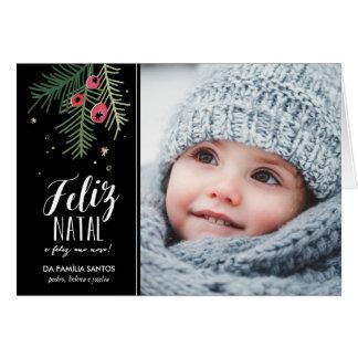 Bagas Vermelhas   Feliz Natal Card