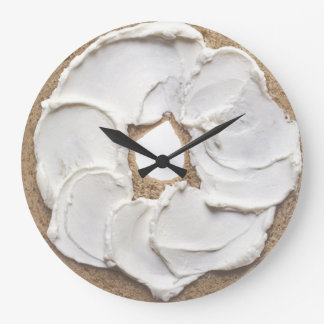 Bagel and Cream Cheese Novelty Large Clock