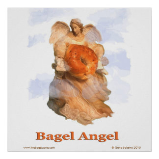 Bagel Angel Poster