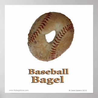 Bagel de base-ball poster