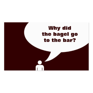 bagel joke pack of standard business cards
