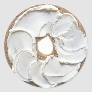 Bagel Round Sticker