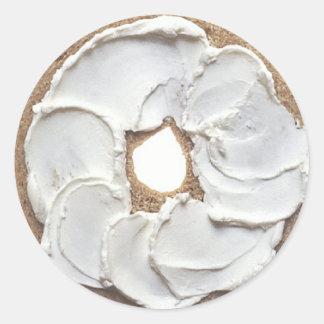 Bagel Round Sticker