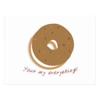 Bagel You re Everything Postcard