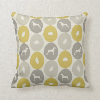"BAGELS AND WEIMARANERS THROW PILLOW 16""x16"""