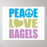 Bagels d'amour de paix poster