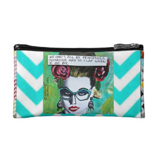 BAGETTE CASE-WE CAN'T ALL BE PRINCESSES. MAKEUP BAGS
