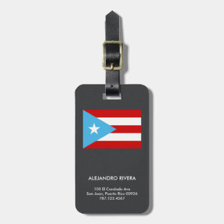 Baggage Tag: Sky Blue: Puerto Rico Flag Luggage Tag