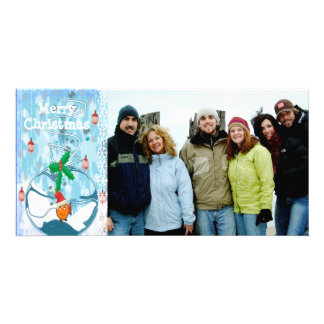 Bagged Fish Slpat & Snowflake Merry Christmas Card