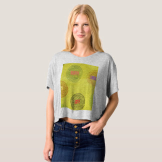 Baggy T-Shirt with Polka Dots fill with Text.