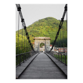 Bagni di Lucca, Tuscany, Italy - An old bridge Poster