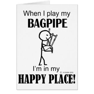 Bagpipe Happy Place Card