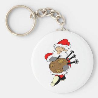 Bagpipe Irish Santa Claus Keychain