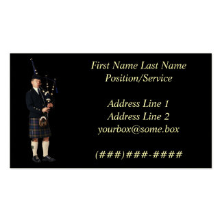 Bagpipe Musician Pack Of Standard Business Cards