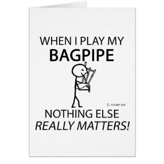 Bagpipe Nothing Else Matters Cards