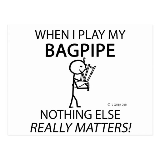 Bagpipe Nothing Else Matters Postcard